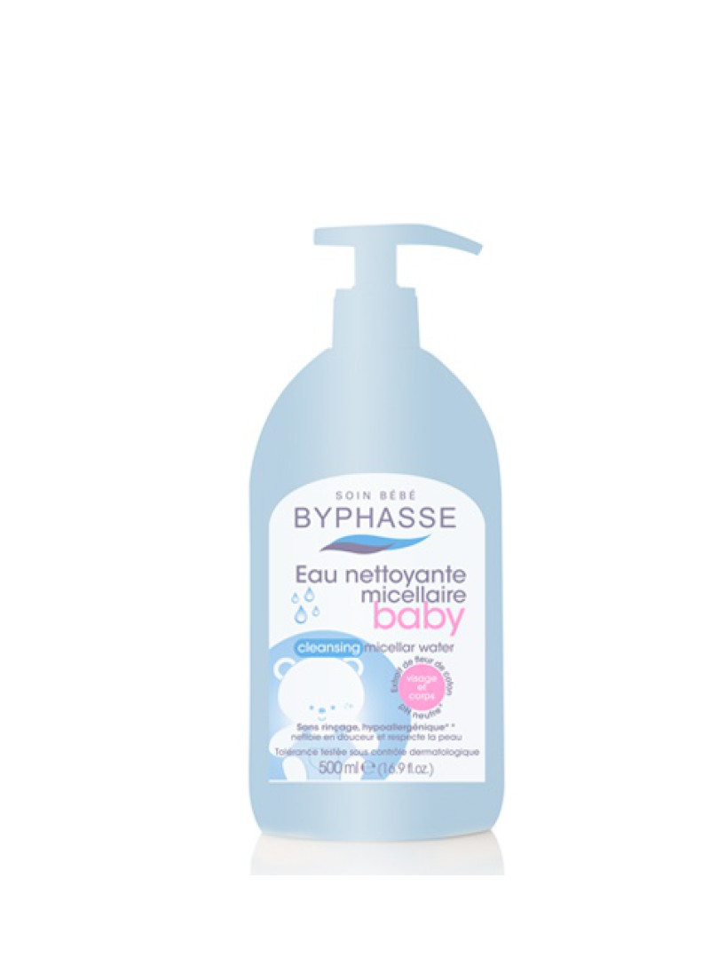BYPHASSE GENTLE CLEANSING BABY MICELLAR WATER 500M...