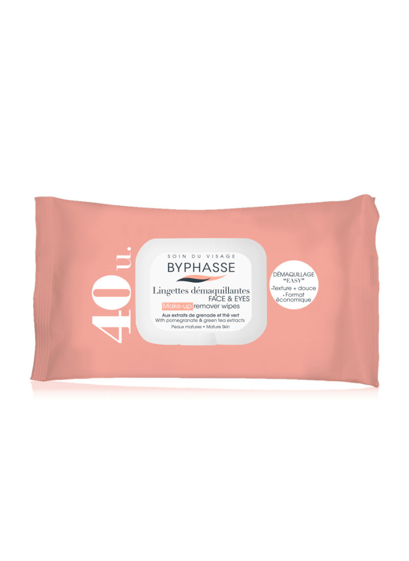 BYPHASSE MAKE UP REMOVER WIPES POMEGRANTE EXTRACT ...