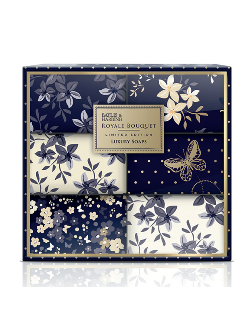 BAYLIS HARDING ROYALE BOUQUET L 6 SOAP SET