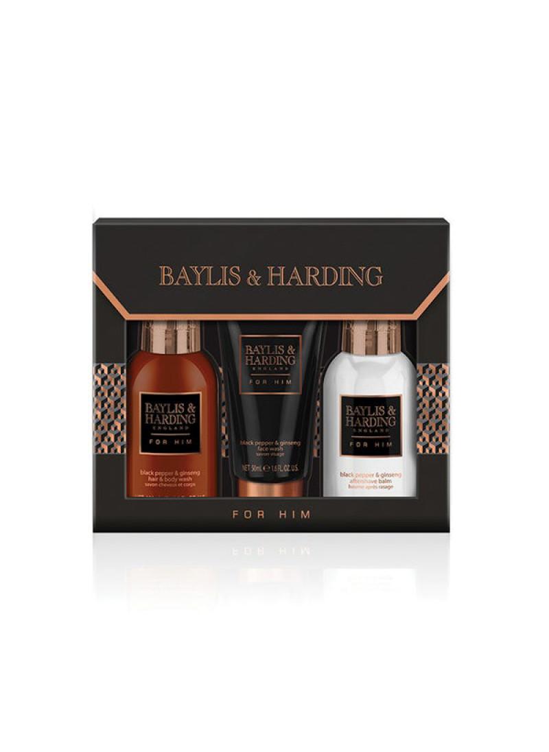 BAYLIS HARDING MENS BLACK PEPPER GINSENG 3 PIECE M...